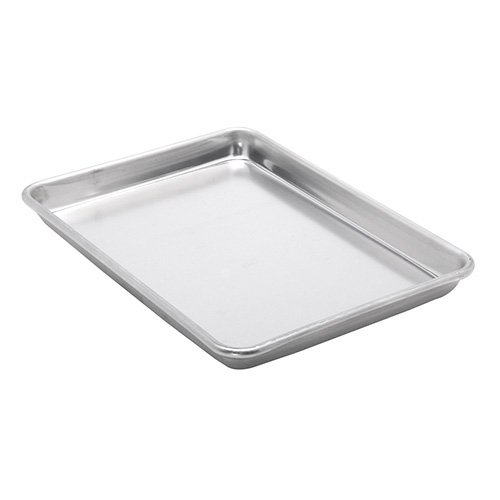 Vollrath 5220 Aluminum Sheet Pan - Quarter Size, Solid, 16 Gauge, Heavy Duty