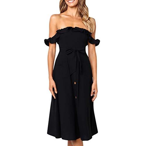 Landfox Dress, A-Line Dress,Women's Oversize Casual Pint Harem Pants Loose Trousers Jumpsuit Black ()