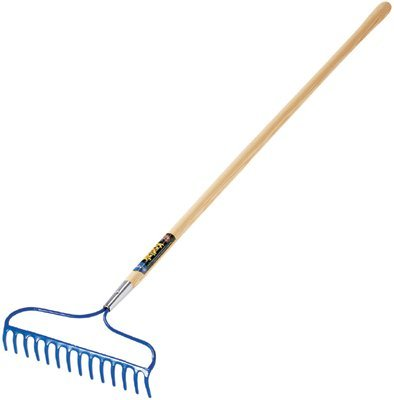 Garden Rake, 14 in Forged Steel Blade, 60 in White Ash Handle (14 Pack) by ''Ames''