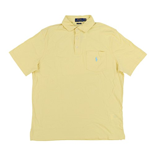 Polo Ralph Lauren Mens Interlock Pocket Polo Shirt (Medium, Yellow)