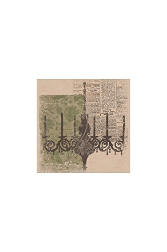 Heritage Lace Downton Abbey Silhouettes Chandelier Wall Art, 14.5 by 14.5-Inch, (Artwork Polyester Lace)