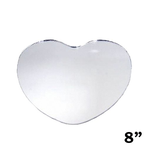 "36 pcs 8"" HEART Glass MIRROR Wedding Table Centerpieces"