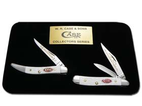 CASE XX Grandfather Grandson Jigged White Peanut and Toothpick Set 1/600 Knife Set