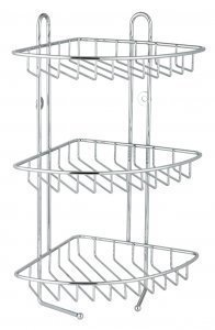 Stainless Steel 3 Tier Corner Bathroom Shower Caddy Organiser Rack Shelf Unit by B&C by B&C