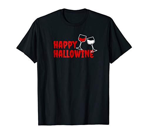 Happy Hallowine T-Shirt Halloween costume for wine -