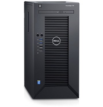 2017 Newest Flagship Dell PowerEdge T30 Business Mini Tower Server System - Intel Quad-Core Xeon E3-1225 v5 8M Cache, 8GB UDIMM RAM, 1TB HDD, DVD+/-RW, HDMI, No Operating System - Black (Dell Compact Desktop)