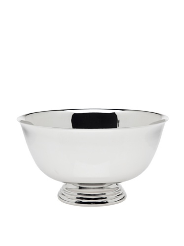 Silver Footed Bowl - 8 Inch Nickel Plated Revere Bowl
