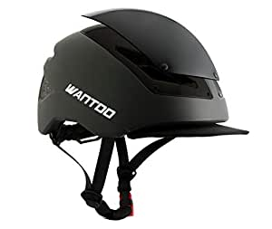 Wantdo Adult Bike Helmet Riding Helmet Commuter Safety Street Helmets Adjustable for Youth Cycling Urban Head Protector