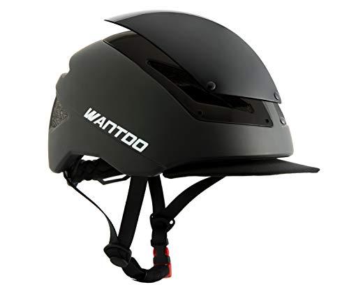 Wantdo Men's and Women's Bicycle Commuter Multi-Sport Road Helmet Safety Street Helmet Lightweight Adult Bike Helmet