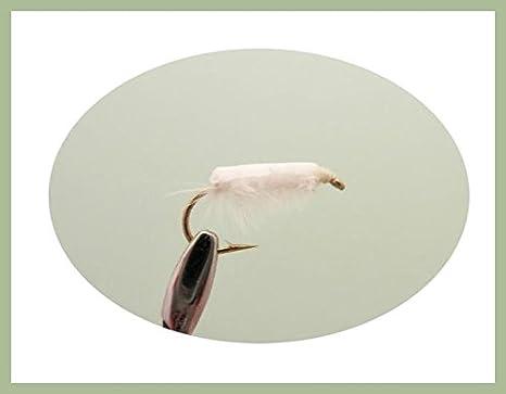6 x White Chomper Nymphs fishing flies Chomper Trout flies Choice of sizes