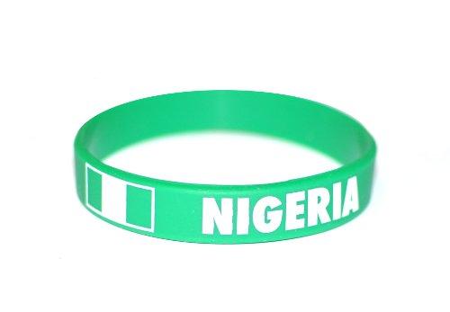 (50 x Nigeria - Country Silicone Wristband)
