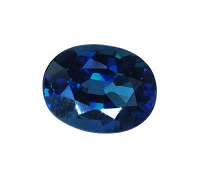 Created Blue Oval Sapphire Uns