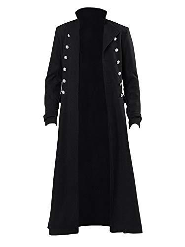 Mens Steampunk Vintage Jacket Gothic Victorian Frock Coat Uniform Halloween Costume Tailcoat