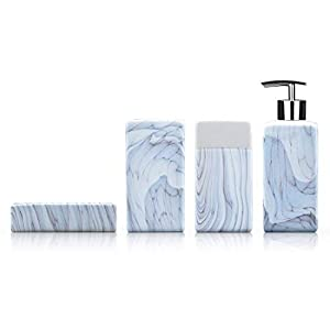 31wwwZ9TfHL._SS300_ 70+ Beach Bathroom Accessory Sets and Coastal Bathroom Accessories 2020