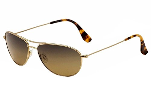 Maui Jim Baby Beach HS245-16 Polarized Aviator Sunglasses,Gold Frame/HCL Bronze Lens,One Size