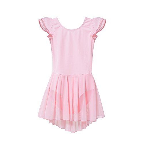 Large Product Image of MdnMd Girls' Flutter Sleeve Skirted Leotard