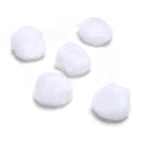 Darice Bulk Buy DIY Acrylic Pom Pom White