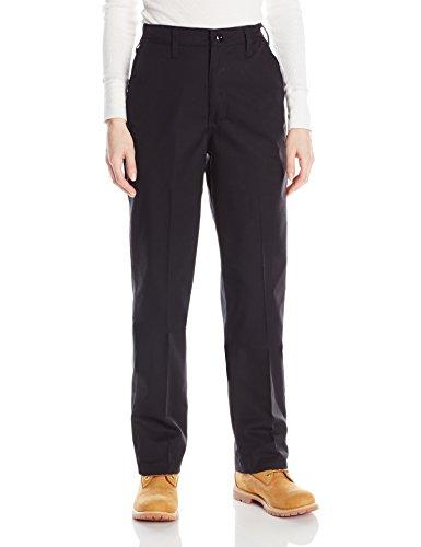 Red Kap Women's Plus Size Elastic Insert Work Pant, Black, 24x30