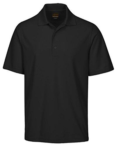 Greg Norman Men's Protek Micro Pique Polo, Black, Medium (Greg Norman Apparel)
