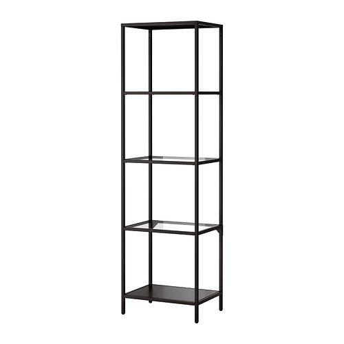 Review IKEA VITTSJÖ,Shelving unit, Glass (Black-Brown) By IKEA by Ikea