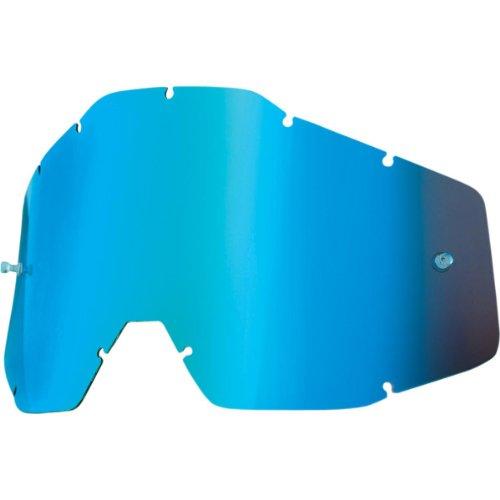 (100% Speedlab (51003-002-02) ACCURI/STRATA Youth-Replacement Lens W/Posts-Blue Mirror/Smoke Anti-Fog, Free Size))