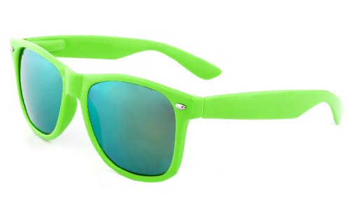 Reflective Mirror Lens Retro Vintage Classic Style Retro Classic Sunglasses Shades (0Green/Mirrored, - With Shades Lenses Shutter