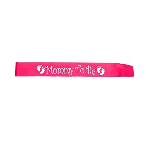 OrangeTag Pink Mommy To Be Sash - Baby Shower Decorations gift for Girl