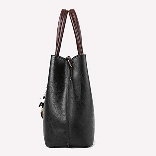 RMXMY ハンドバッグ女性のファッション人格創造的な野生のショルダーバッグメッセンジャーバッグポータブル実用的な美しい雰囲気カジュアルショルダーバッグハンドバッグブラック