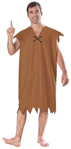 [15744Standard Large Barney Rubble Adult Costume] (Betty Wilma Costumes)