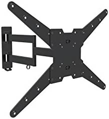 Heavy-duty TV Wall Mount 05417A Full Motion Bracket for most 23-55 inch LED LCD OLED Plasma Flat Screen ,Tilt 15 Degree,Swivel 90 Degree,VESA up to 600 x 400,Max Load 77lbs.Power by ProHT