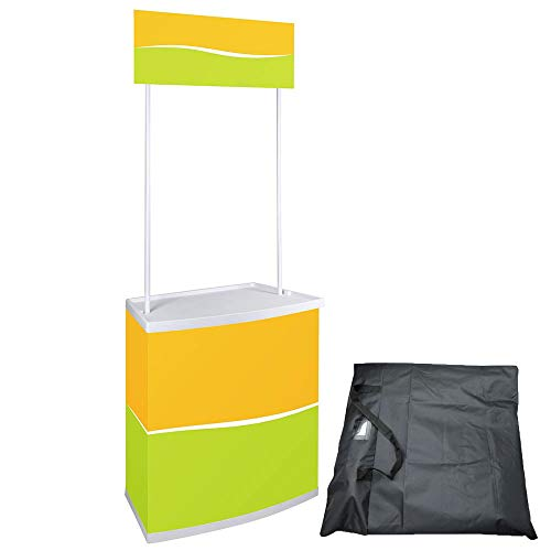 (Yescom Portable Promotion Counter Table Foldable Booth Kiosk Trade Show Display Banner Stand)