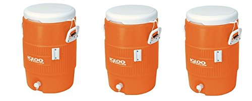 - Igloo 5 Gallon Seat Top Beverage Jug with spigot (Pack of 3)