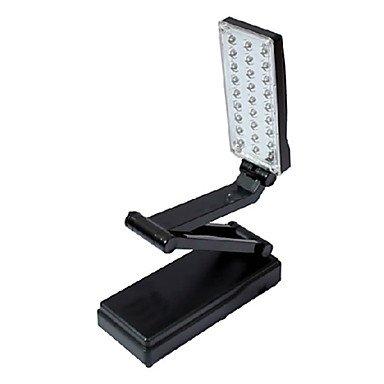 SJ-2W 27-LED Fold Eyeshield Reading Table Desk Lamp (Black, - 2w Ball
