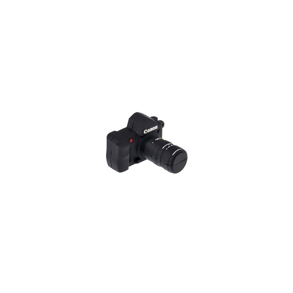 Mini Canon SLR Camera Design 8GB USB Flash Drive Flash Memory U Disk (Black)