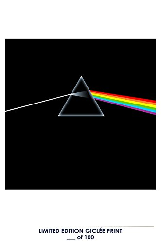 RARE POSTER movie PINK FLOYD: DARK SIDE OF THE MOON music 1973 album COVER REPRINT #'d/100!! 12x18