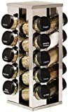 WMU - Kamenstein 20 Jar Stainless Steel Rotating Spice Rack