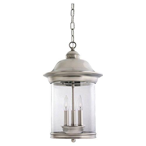 Sea Gull Lighting 60081-965 Hermitage Three Light Outdoor Pendant, Antique Brushed -