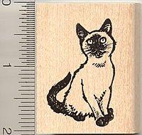 Siamese Cat Kitten Rubber Stamp