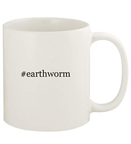 - #earthworm - 11oz Hashtag Ceramic White Coffee Mug Cup, White