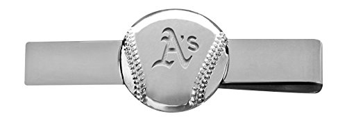 Oakland Athletics Cufflinks (MLB Oakland Athletics Engraved Tie Bar)