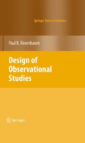 Download Design of Observational Studies (Springer Series in Statistics) Pdf