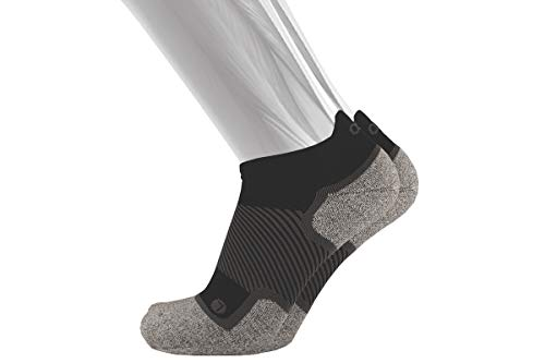OS1st WP4 Wellness Performance Socks Ideal for Diabetics, Sensitive feet and Circulation Support (Medium, Black No-Show)