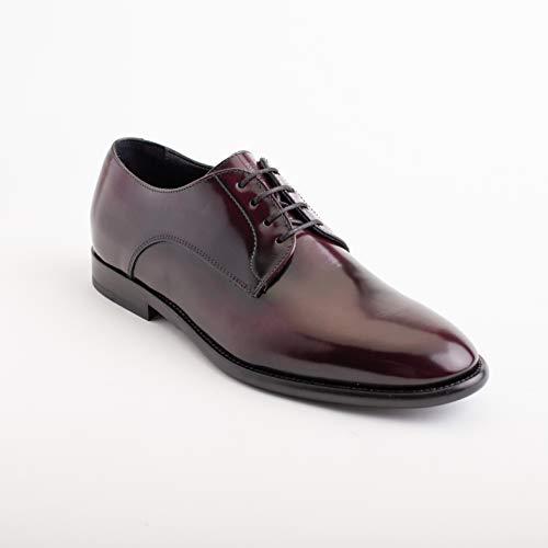 GIORGIO ARMANI Collezioni Men's Leather Oxford Dress Shoes Maroon
