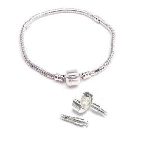 European Snake Chain Charn Style Bracelets Barrel Clasp (Pandora Style Bracelet)