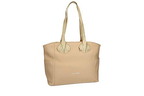 Bolsa mujer hombro PIERRE CARDIN beige abertura zip VN1401