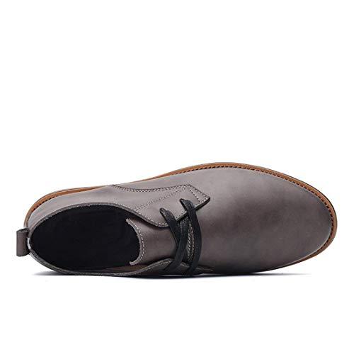 Negocios color Gris Estilo Zapatos Marrón Cordones Hhgold Para Tamaño Uk Hombres Con Oxford De 9 Formales wqZEnXEvS