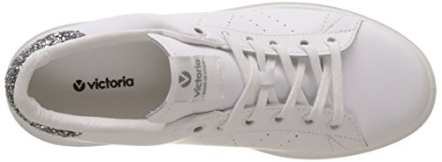 Victoria Shoes Sneakers Donna Con Plateau 260115 Bianco / Antracite Bianco / Antracite