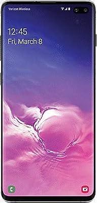 Samsung Galaxy S10+ Plus Verizon + GSM Unlocked 128GB Prism Black (Renewed)