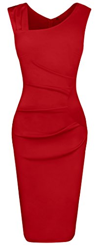 Fancyskin Women's Cocktail Dress Sleeveless Slim Bodycon Dress Business Pencil Dress