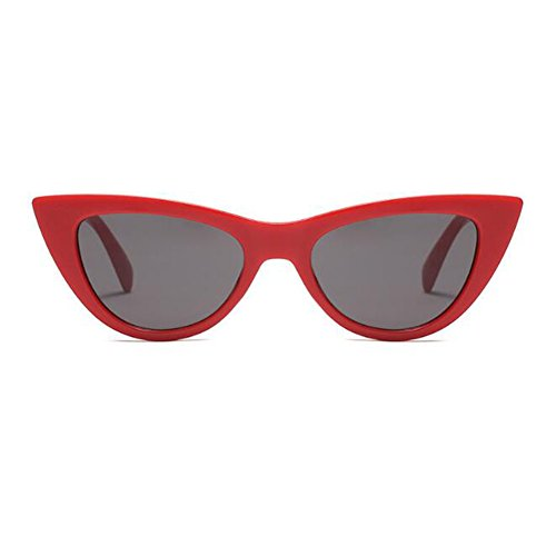 Retro primavera de sol Moda 9 Gafas Color C6 gato Estilo UV400 Deylaying Marco Rojo Escoger de Gafas de Lente Enorme Fiesta Bisagra Gris Ojo Mujer para wdaXXYqO